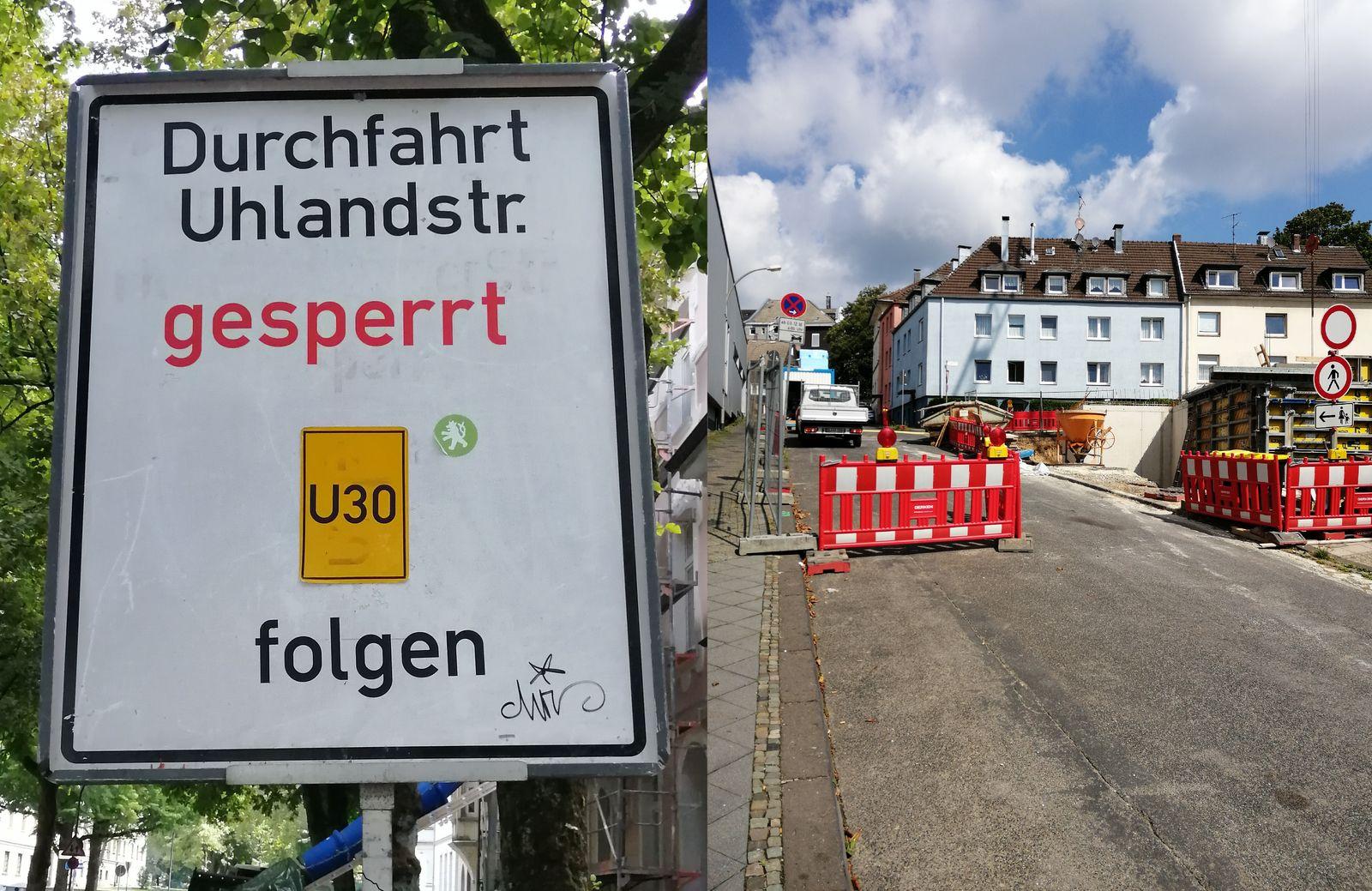 Sperrung Uhlandstraße