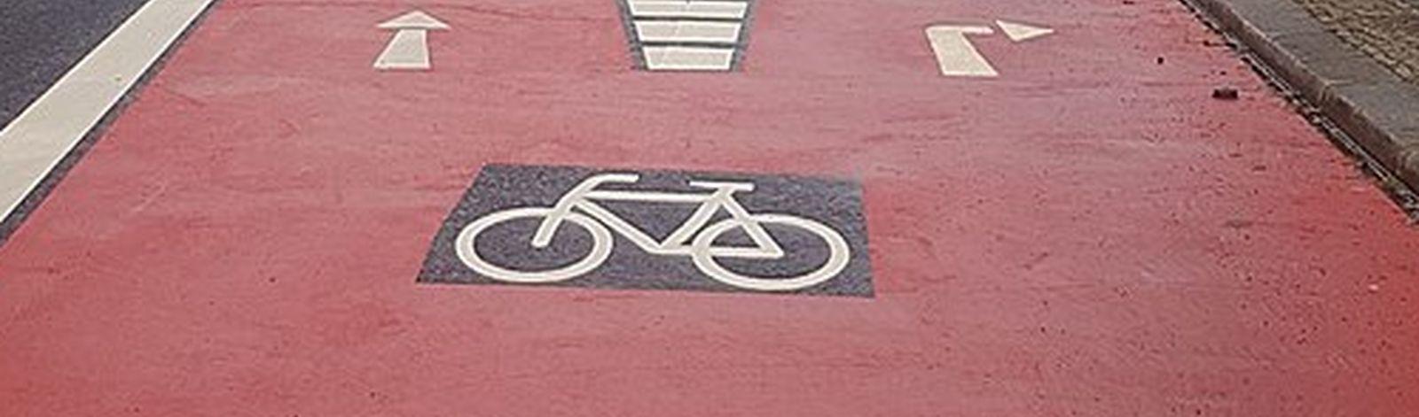 Radverkehrsmarkierungen Gartenstraße